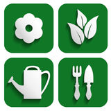 Garden icons set Stock Photos
