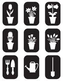 Garden icons set Royalty Free Stock Photography