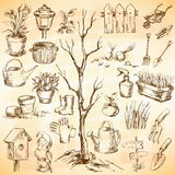 Garden icons set Royalty Free Stock Photo
