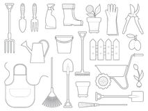 Garden icons Stock Image
