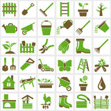 Garden icons Royalty Free Stock Photos