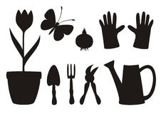 Garden icons Stock Images
