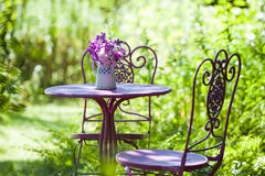 Garden idyll. With nature background royalty free stock photo