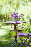 Garden idyll. With nature background stock photography