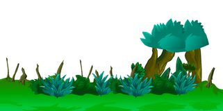 Garden illustration. Gardent and trees used illustration Stock Photography