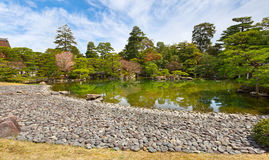 Garden in imperial palace, Kyoto, Japan Stock Photography