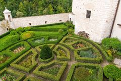 Garden In Castle Pieskowa Skala Poland Royalty Free Stock Photography