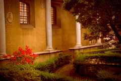 Garden inside of church Santa Maria delle Grazie. Garden inside  of church Santa Maria delle Grazie, Italy, Milan Royalty Free Stock Photos