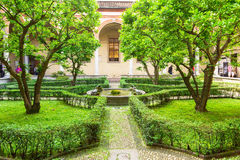 Garden inside of church Santa Maria delle Grazie, Milan Stock Images