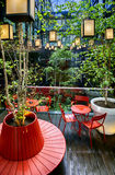 Garden  inside hotel Stock Photo
