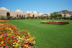Garden inside Sultan's Palace in Oman Stock Photos