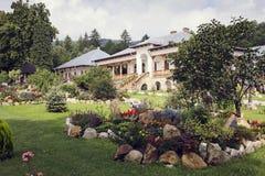 Garden inside Varatec Monastery, Moldavia, Romania Royalty Free Stock Image