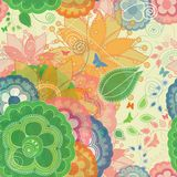 Garden Inspired Seamless Pattern Stock Photos