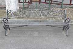 Garden iron bench Stock Images