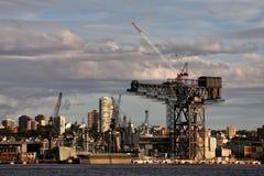 Garden Island hammerhead crane Royalty Free Stock Image