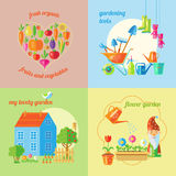Garden Isolated Icon Set Stock Photography