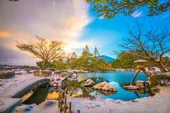 Garden in Japan royalty free stock photos