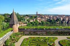 Jardins du Palais de la Berbie. Garden of Jardins du Palais de la Berbie in Albi, France Royalty Free Stock Photo