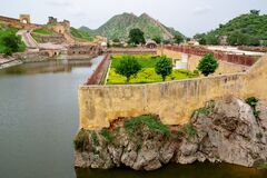 Garden Kesar Kyari Complex, Maota Lake near Amber Fort and Jaipur, India
