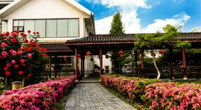 Chinese garden King. Garden is a kind of art for people to visit and entertain, and create scenery with their own hands. Due to the different understanding and Royalty Free Stock Image