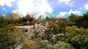 Chinese garden King. Garden is a kind of art for people to visit and entertain, and create scenery with their own hands. Due to the different understanding and Stock Photos