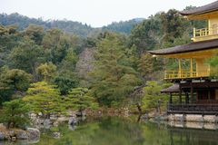 The garden at Kinkakuji, Kyoto, Japan royalty free stock photo