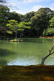 Garden in Kinkakuji Temple Stock Photography