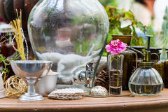 Garden and kitchen utensils decoration Royalty Free Stock Photography