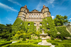 Garden of Ksiaz Castle. Beauty of Ksiaz Castle - Poland Royalty Free Stock Images