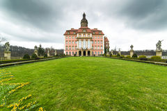 Garden in Ksiaz Castle. Poland Royalty Free Stock Photos