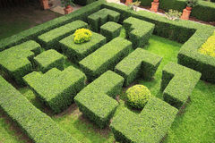 Garden Labyrinth. Top view of Garden Labyrinth Stock Photo