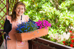 Garden Lady Stock Photo