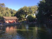Garden Lake in Gongwangfu Beijing stock image