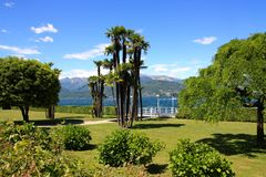 Garden by the Lake Maggiore, Italy Stock Images
