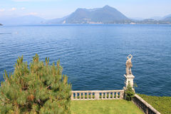 Garden at Lake Maggiore Royalty Free Stock Images