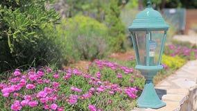 Garden Lamp stock video footage