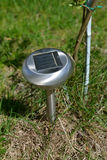 The garden lamp on the solar battery Stock Photography