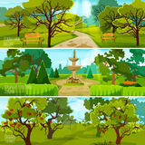 Garden Landscape Banners Royalty Free Stock Image