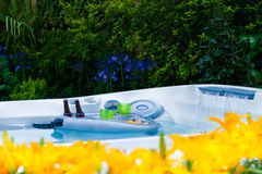Garden landscape. With a jacuzzi Royalty Free Stock Photos