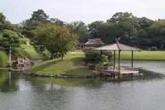 Okayama Garden, Garden landscape. With lake, meadow gazebo Stock Image