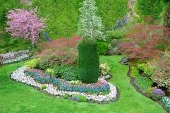 Garden landscaping. Sunken garden landscaping in the historic butchart gardens, victoria, british columbia, canada Royalty Free Stock Photography
