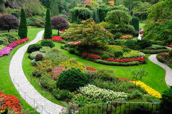 Garden landscaping Stock Image