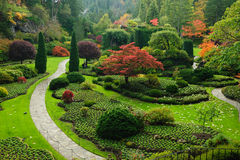 Garden landscaping royalty free stock photos