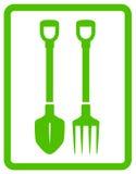 Garden landscaping tools icon Stock Photos