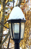 Garden lantern in the winter Stock Photo