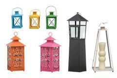 Garden lanterns cipping path Stock Photos