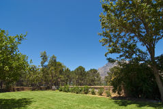 Garden with large lawn Royalty Free Stock Photography