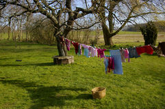 Garden Laundry Royalty Free Stock Images