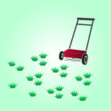 Garden lawn-mower eps10 Stock Images