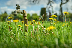 Garden Lawn Water Faucet Royalty Free Stock Images